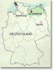 schwerin on a map of germany. Black Bedroom Furniture Sets. Home Design Ideas